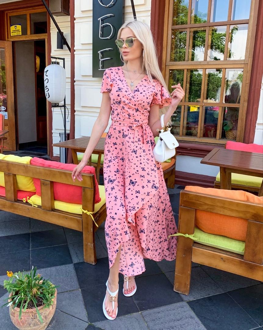 Платье цветочний принт женское летнее длинное большие размеры