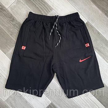 Шорты мужские хлопок полубаталы Nike, размеры 58-66, чёрные, 05640