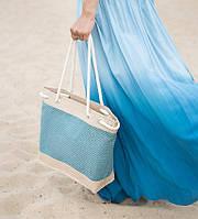 Легкая летняя сумка из рогожки Sen Trope в расцветках, фото 1