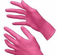 Перчатки неопудренные нитриловые розовые ( Размеры XS, S,M, L)
