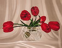 Набор для вышивания бисером FLF-037Тюльпаны35*45 Волшебная страна качественный , фото 1