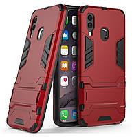 Бронированный противоударный чехол Stand для Samsung Galaxy A40 (2019) SM-A405F Dante Red