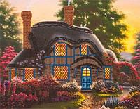Набор для вышивания бисером FLF-040Сказочный домик35*45 Волшебная страна качественный