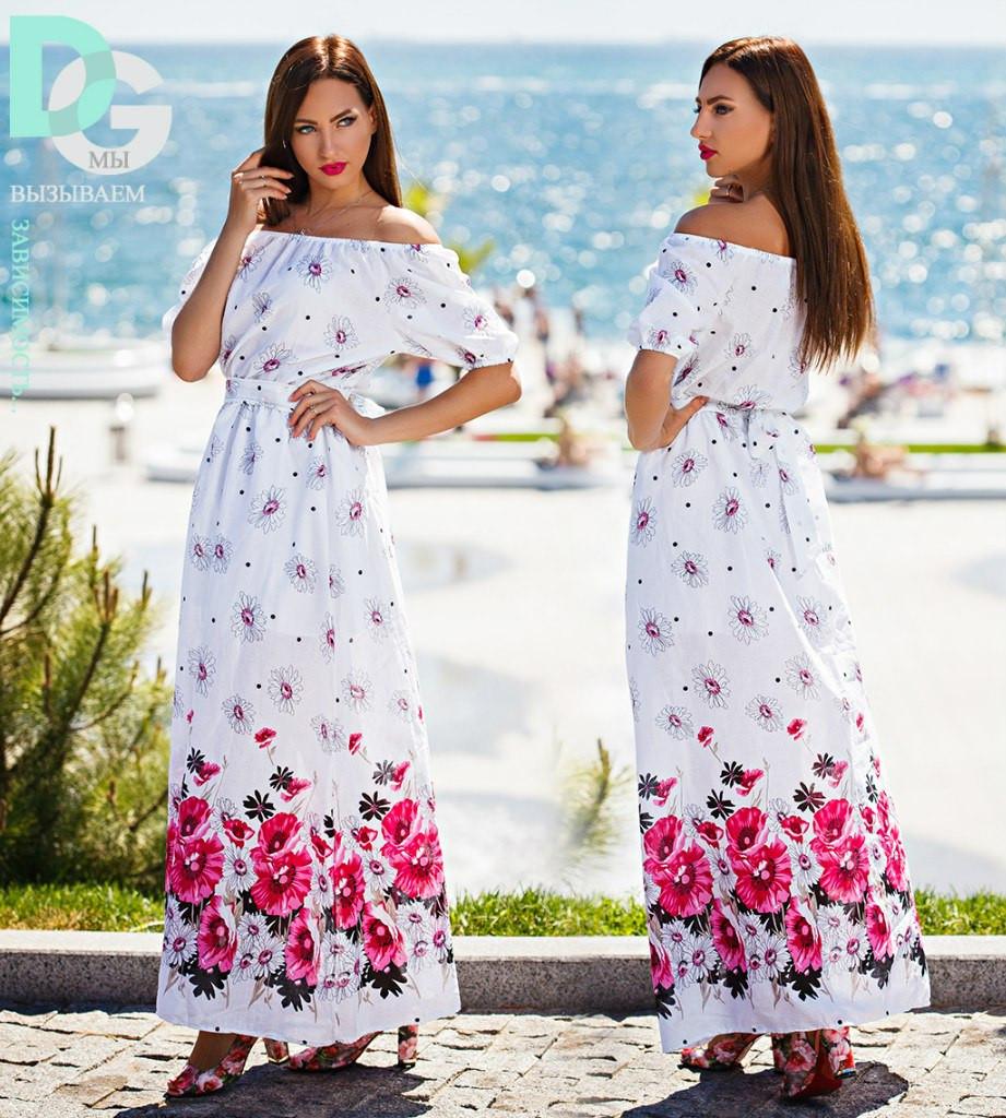 Платье летнее макси № 242.4 маг)  , фото 1