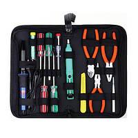 Паяльный набор ZD-905, отвертки, паяльник, оловоотс, нож, кусачки, плоскогубцы Zhongdi