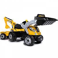 Трактор педальный с прицепом и двумя ковшами Smoby MAX 710301