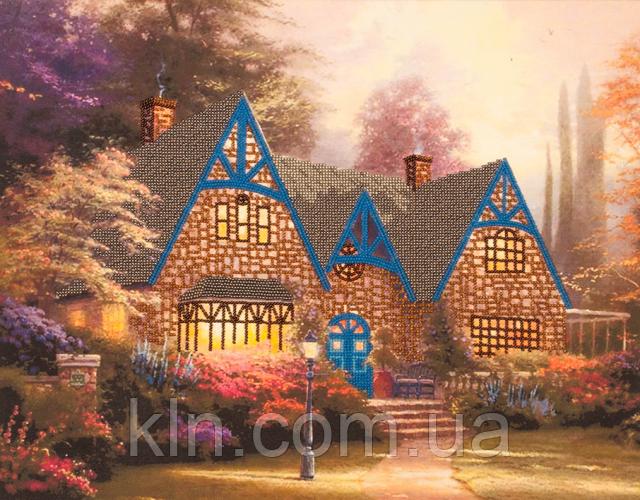 Набор для вышивания бисером FLF-042 Домик в лесу 35*45 Волшебная страна качественный