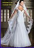 Белоснежное Свадебное платье с фатой. Кружевное.