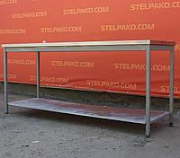 Стол производственный из нержавеющей стали с полкой 1190х600х840 см., (Украина), Б/у, фото 1