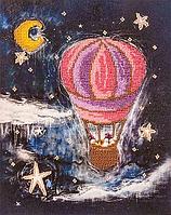 Набор для вышивания бисером FLF-047На воздушном шаре20*25 Волшебная страна качественный