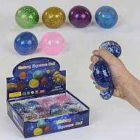 Игрушки-антистресс С 37518 (12) 6 цветов, с гидрогелевыми шариками и блёстками, ЦЕНА ЗА 12 ШТУК В БЛОКЕ