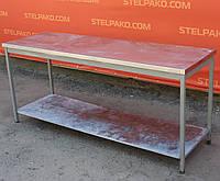 Стол производственный из нержавеющей стали с полкой 1190х400х840 см., (Украина), Б/у, фото 1