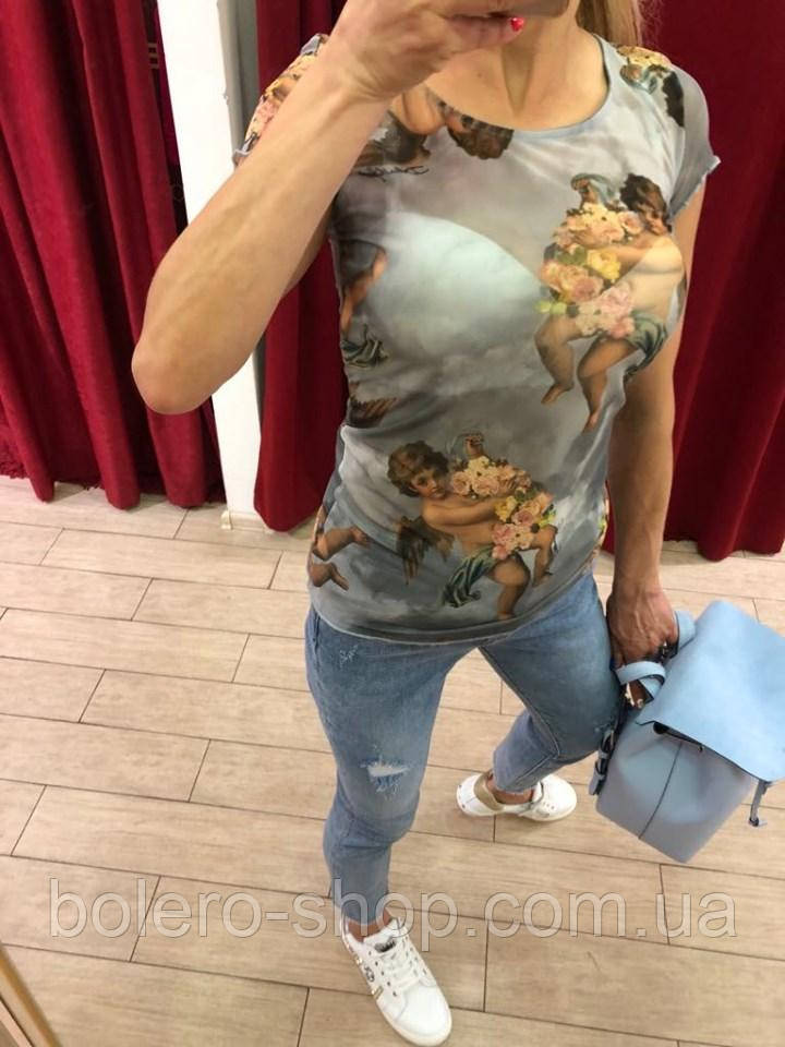 Футболка женская Dolce & Gabbana ангелочки
