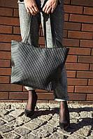 Стильная женская вместительная сумка трапеция Lodochka в расцветках черный фараон