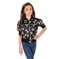 Атласная блуза на змейке для девочки подростка