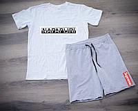 Мужской летний спортивный костюм, чоловічий спортивний костюм Napapijri, суприм, Реплика (комби)