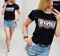 Женская футболка  реплика Levi's 100% катон качество турция, фото 1