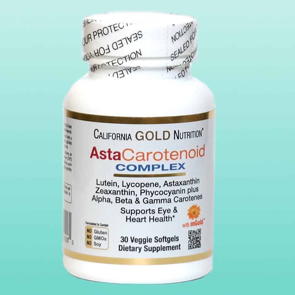 California Gold Nutrition, AstaCarotenoid Complex, для здоровья глаз, 30 мягких таблеток