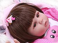 Кукла реборн 45 см полностью виниловая девочка Дашенька