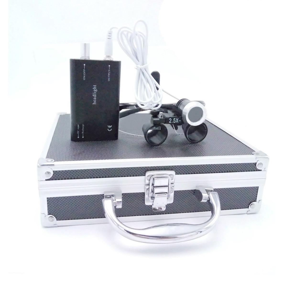 Комплект бинокуляры B1 2.5x-420 + подсветка, black