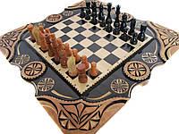 Шахматы-нарды-эксклюзивные ручной работы **Рысь**, фото 1