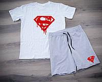 Мужской летний спортивный костюм, спортивний костюм Superman, Реплика (комби)
