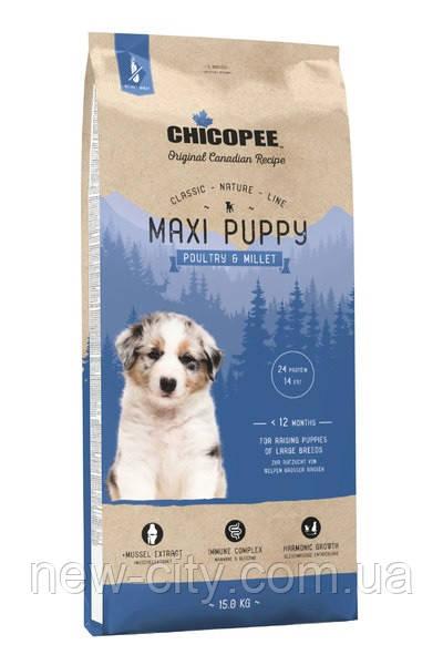 Chicopee СNL PUPPY MAXI POULTRY & MILLET сухой корм для щенков крупных пород ПТИЦА И ПРОСО  2кг
