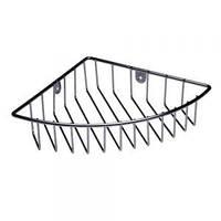 Одинарная,угловая полочка-сетка  для ванной комнаты ТМ Arinо 19*19*5 хром (W2341)