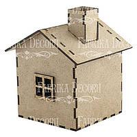 Заготовка для декорирования Фабрика Декора (ДВП 3мм) Домик-5 8,5*9,5*11см FDPO-106