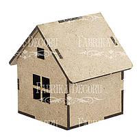 Заготовка для декорирования Фабрика Декора (ДВП 3мм) Домик-6 7,5*7,5*8,5см FDPO-109