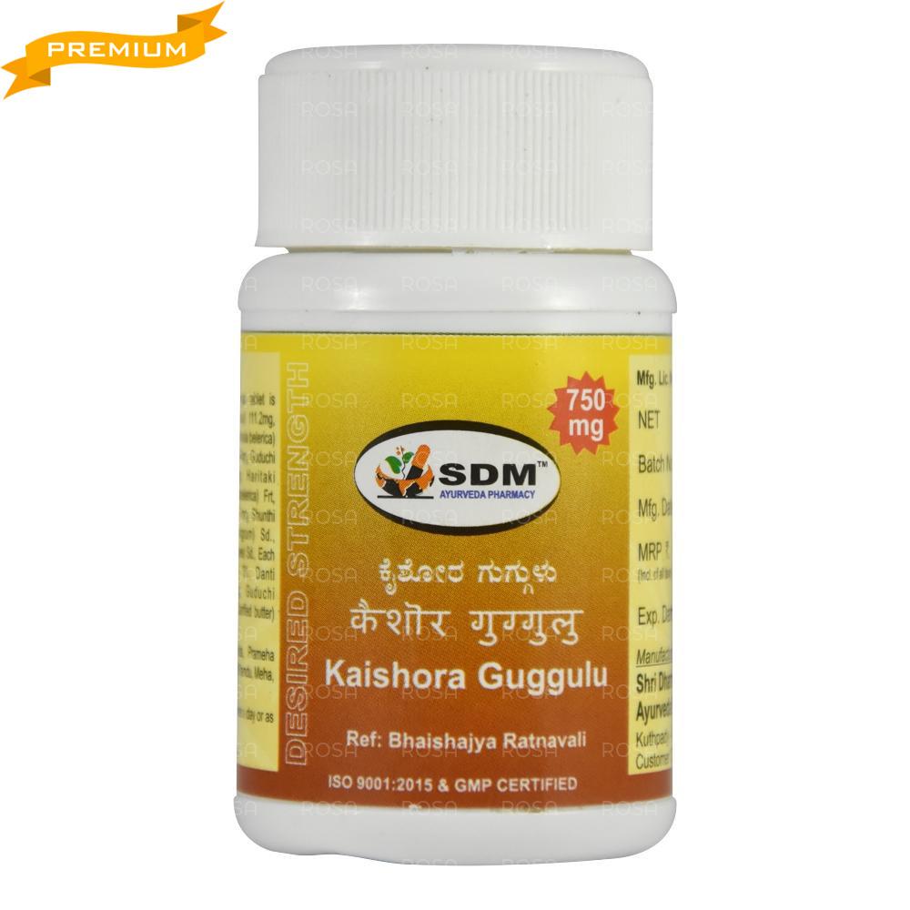 Кайшора Гуггул (Kaishora Guggulu DS, SDM) - аюрведа премиум качества, 40 таблеток