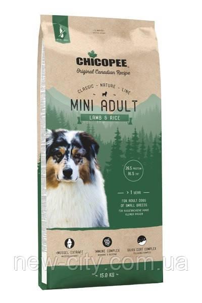 Chicopee СNL ADULT MINI LAMB & RICE сухой корм для собак мелких пород ЯГНЕНОК И РИС 2 кг