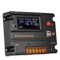 20A контроллер заряда солнечной панели Anself GMG-2420 с ЖК дисплеем 12/24В