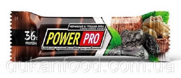 Протеиновый батончик Power Pro, «ГРЕЦКИЙ ОРЕХ С ЧЕРНОСЛИВОМ», 36% белка