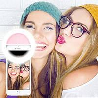 Селфи кольцо, вспышка селфи на телефон Selfie Ring Light USB RK-12 / 4 цвета
