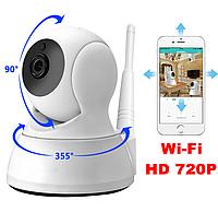 Цифровая IP-камера HD 720P. Камера Wi-Fi Поворотная 355. Видеоняня. Видеонаблюдение. Ночное виденье