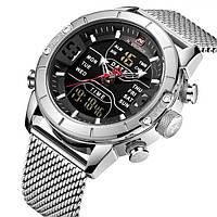 Мужские спортивные часы Naviforce Tesla Silver