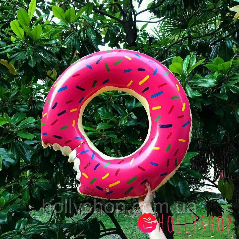 Надувной круг ПОНЧИК розовый 90см