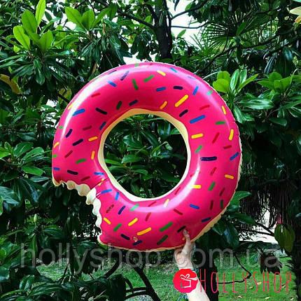 Надувний круг ПОНЧИК рожевий 90см, фото 2