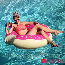 Надувной круг ПОНЧИК розовый 90см, фото 3