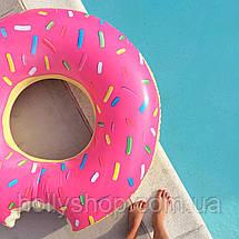 Надувной круг ПОНЧИК розовый 120см, фото 2
