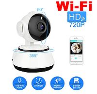 Цифровая Камера Wi-Fi. Поворотная WiFi Камера. IP-камера 355. Видеонаблюдение. Видеоняня. Ночное виденье