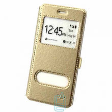 Чехол-книжка ViP 2 окна Samsung M20 2019 M205 золотистый