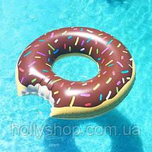 Надувной круг ПОНЧИК шоколадный 120см, фото 2