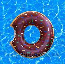 Надувной круг ПОНЧИК шоколадный 90см, фото 2