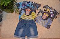 Летний комплект для мальчиков с бриджами  1-5 лет
