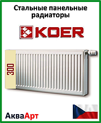 Радиатор стальной Koer 22k 300*600 боковое подключение