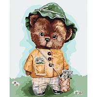 """Картина по номерам. """"Мой медвежонок"""" 40*50см KHO4132"""