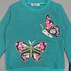 """Утепленный костюм """"Бабочки"""" для девочки. 110, 116, 122, 128 см, фото 3"""