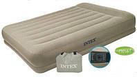Односпальная кровать с подголовником (99х191х38 см.) Intex- 67742